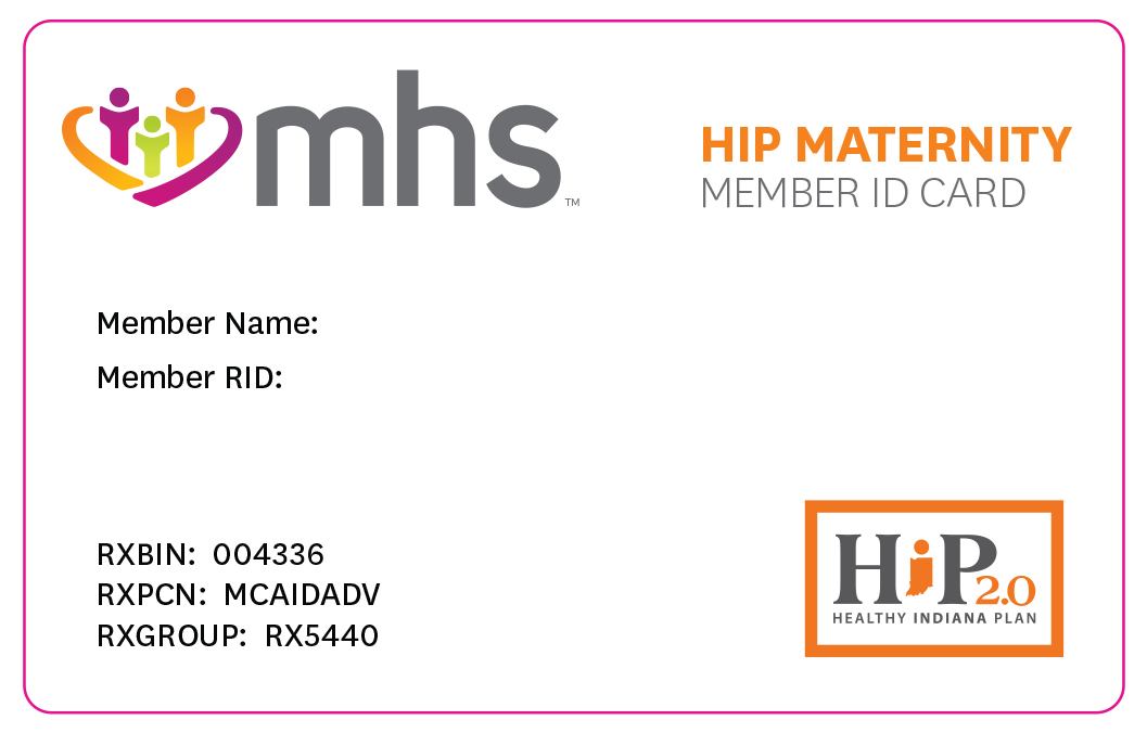 Hip Maternity ID card front